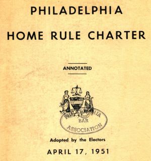 Title page: Philadelphia Home Rule Charter