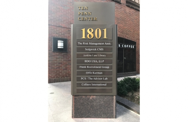 Ten Penn Center Sign