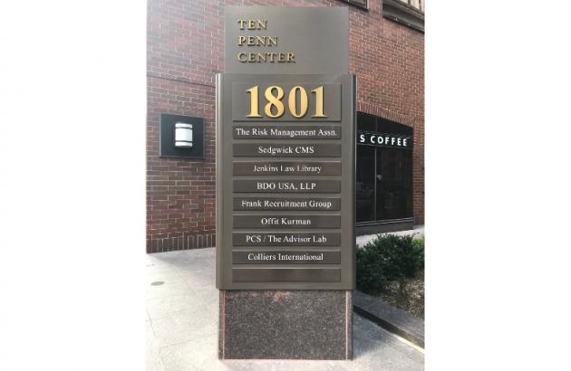 Ten Penn Center Sign