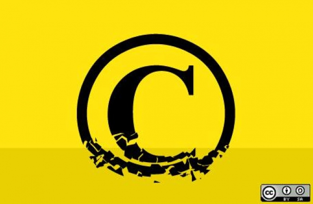 "Copyright ""C"" on a yellow background."