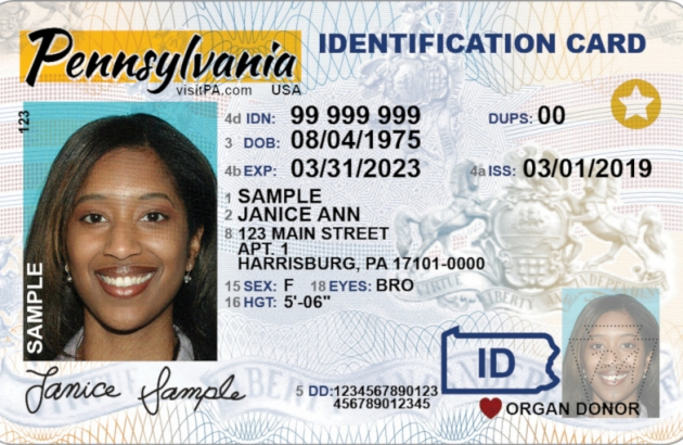 Sample REAL ID Card
