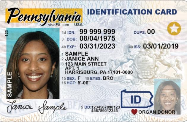 Sample REAL ID Card