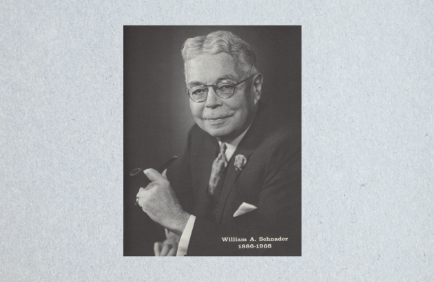 Photo of William A. Schnader from the cover of The Shingle, June 1968, vol. 31, no. 6.