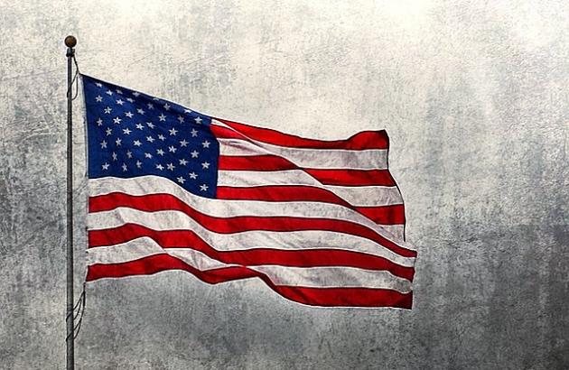 American flag waving.