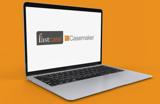 laptop with Fastcase and Casemaker logos